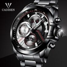 CADISEN Moda Relógios Dos Homens Do Esporte Militar Relógio à prova d' água Marca De Luxo aço Quartz Negócios relógio de Pulso Masculino Relogio masculino