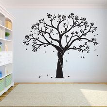 Tree Wall Decal Sticker Bedroom tree of life roots birds flying away home decor  Leaves falling studiodecor A7-022 falling away