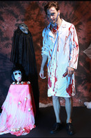 Zombie costume for man scary costume cosplay halloween costumes for men Bloody male doctor cosplay XC 7083