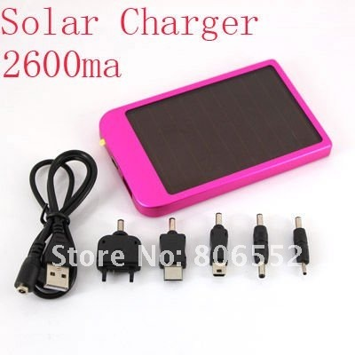 2600mAh Solar Power charger Solar Battery for Mobile phone,PDA,mp3/mp4 FREE SHIPPING