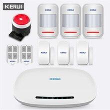 KERUI W19 نظام إنذار لاسلكي GSM GPRS للمنزل نظام إنذار مضاد للسرقة تطبيق تطبيق التحكم عن بعد رسالة دفع قرص آلي