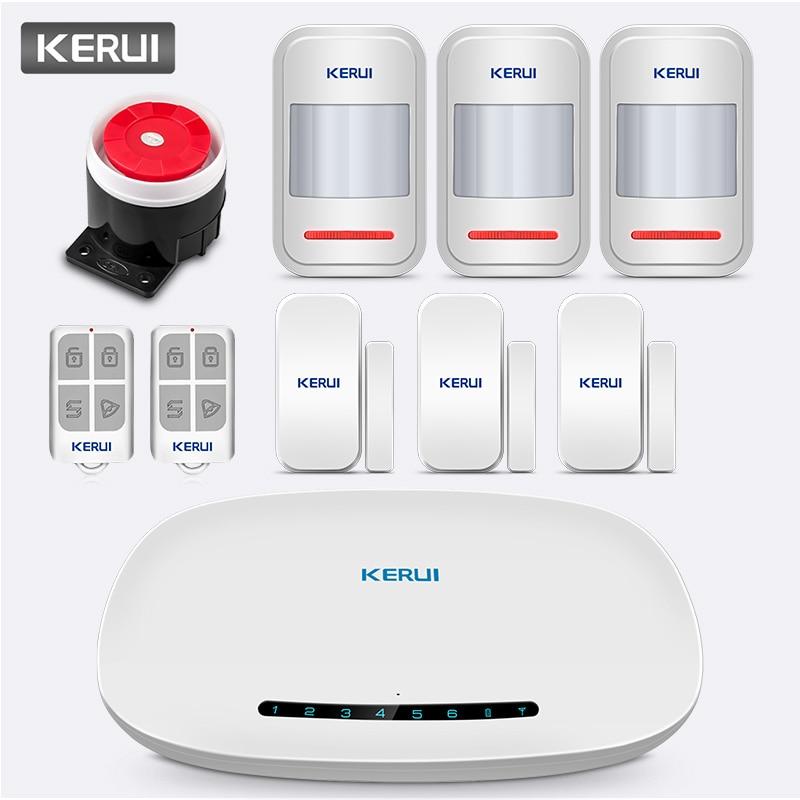KERUI W19 sans fil GSM GPRS système d'alarme sécurité domestique système d'alarme Anti vol APP télécommande Message bouton poussoir automatique-in Kits système d'alarme from Sécurité et Protection on AliExpress - 11.11_Double 11_Singles' Day 1