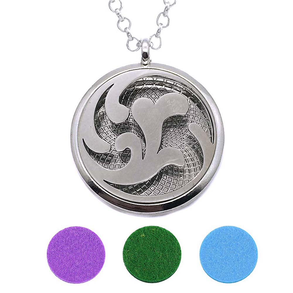 With Snake Chain 226 Butterfly New arrival 30mm Perfume Essential Oils Diffuser Locket Necklace With 3 Pads Women Teenagers Gift