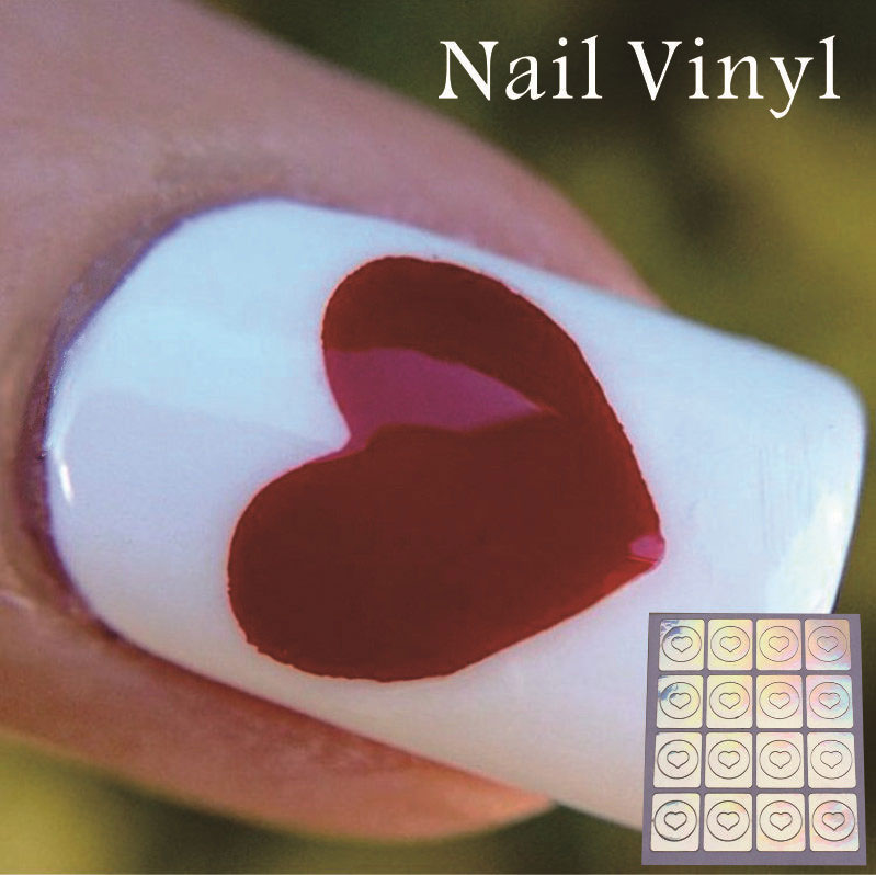 nv39 1 sheet nail vinyl stencil heart manicure stencil non hollow out nail art stencils set hot. Black Bedroom Furniture Sets. Home Design Ideas