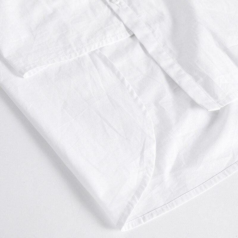 Bf Vêtements Qualité De Longues Haute À Vent Blouses 2017 Blanc Coton Chemises Automne Femmes Occasionnel Manches Irrégulière Bootyjeans Nouvelle YqPff0