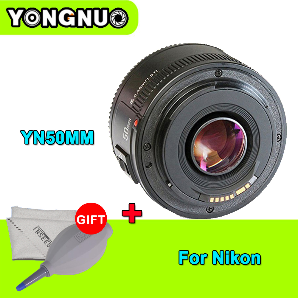 Camera Lens YONGNUO YN50mm F1.8 MF YN 50mm f/1.8 AF Lens YN50 Aperture Auto Focus for NIKON D5300 D5200 D750 D500 DSLR Cameras yongnuo yn 50mm f 1 8 af lens yn50mm aperture auto focus large aperture for nikon dslr camera as af s 50mm 1 8g gift kit page 9