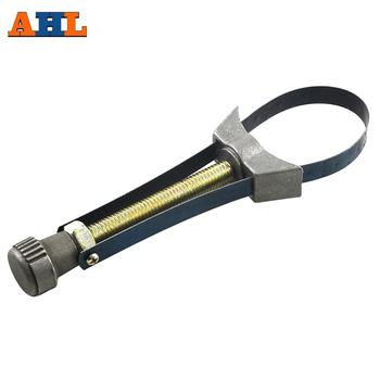 Samochód automatyczny filtr oleju narzędzie do usuwania Cap klucz klucz do paska 60mm do 120mm średnica regulowany dla Honda Yamaha Suzuki narzędzie do naprawy tanie i dobre opinie 1 Pc Uniwersalny Typ Metal 23cm 60mm-120mm