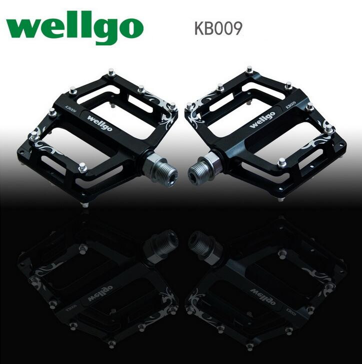 Wellgo KB009 double DU Ultralight Aluminum Alloy Pedals Bmx Mountain Bicycle Cycling Bike Pedal Bicicleta Mtb Parts Time-limited wellgo kb009 double du ultralight aluminum alloy pedals bmx mountain bicycle cycling bike pedal bicicleta mtb parts time limited