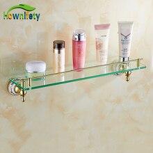 Beauty Gold Plate Bath Storage Shelf Wall mount Single Tier Cosmetic Rack