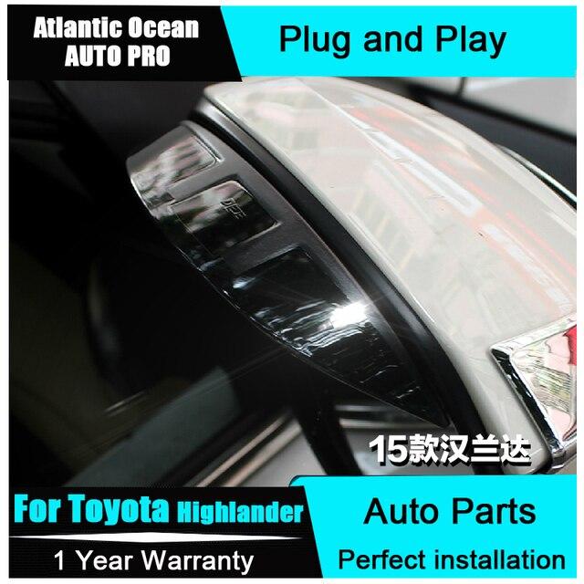 Auto PRO 2015 para toyota Highlander estilo do carro modificado espelho chuva sobrancelha capa de chuva acrílico 15 modificação Highlander