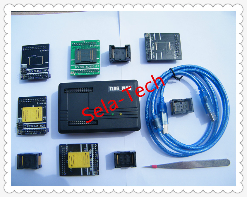 Free shipping NAND ProMan Professional flash programmer repair tool copy NAND FLASH data recovery, +TSOP56 adapter