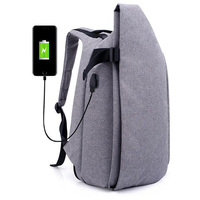 USB Simple Backpack Casual Men backpacks Large Capacity Laptop Bag Personality School Bag Multiple compartment Mochila Masculina