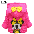 LZH Girls Clothes Baby Girls Cartoon Hooded Jackets Winter Girl Coat Kids Warm Outerwear Jacket 2016 Fashion Children's Clothing
