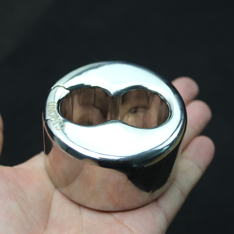 Stainless Steel Ball Stretcher Cock Ring 8 Groove Design Scrotum Rings Pendant Bondage Cockring Adult Sex