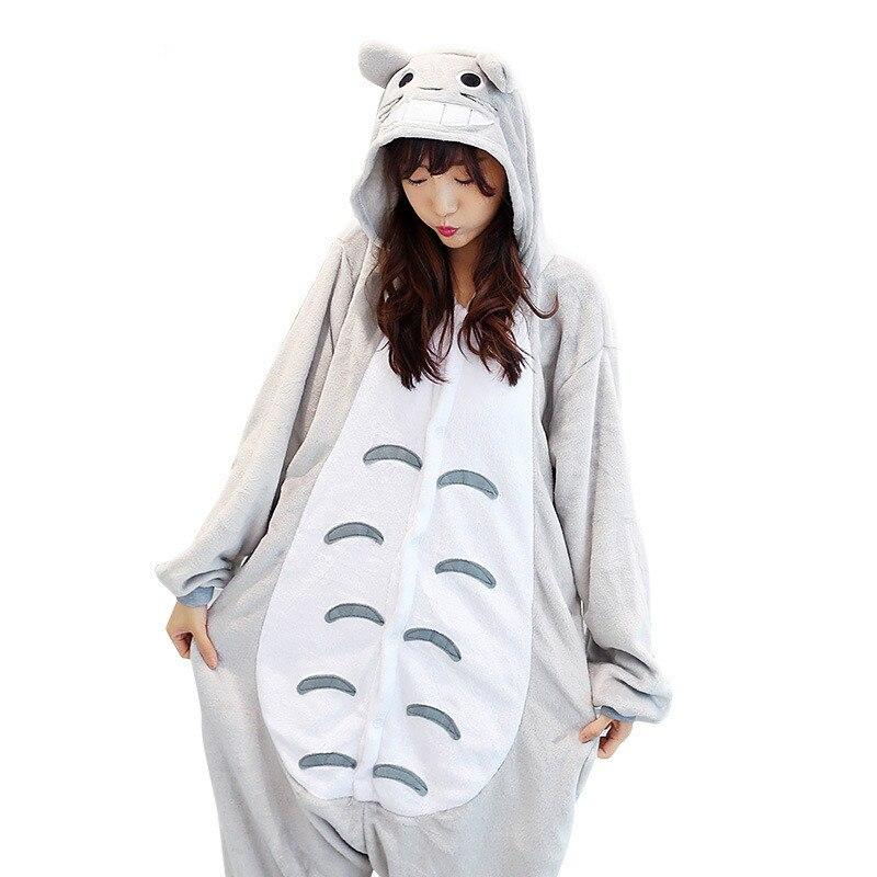 Cute kingurumi Totoro Pajamas Women Winter Warm Soft Animal Onesie Pajamas Set