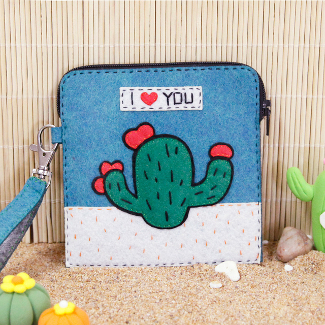 Aliexpress Buy Sewing Art Cactus Pattern Girls Coin Purse Diy