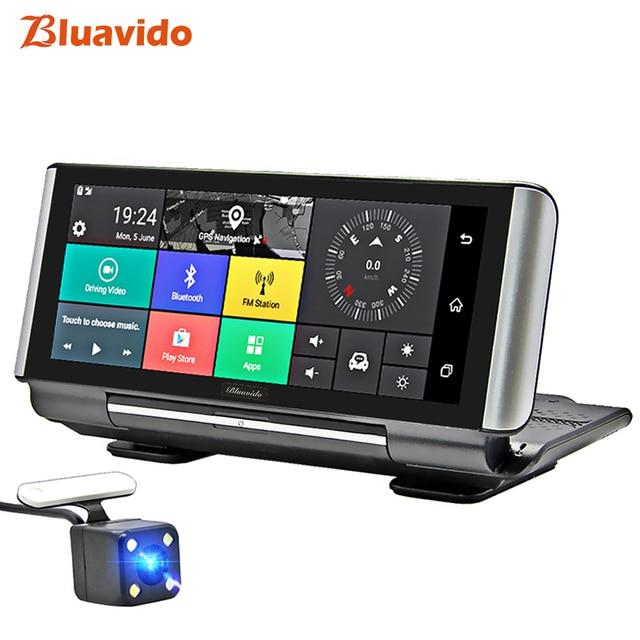 Bluavido 7Inch 4G Car DVR Camera GPS FHD 1080P Android Dash Cam Navigation ADAS Car Video Recorder Dual Lens with Reverse camera