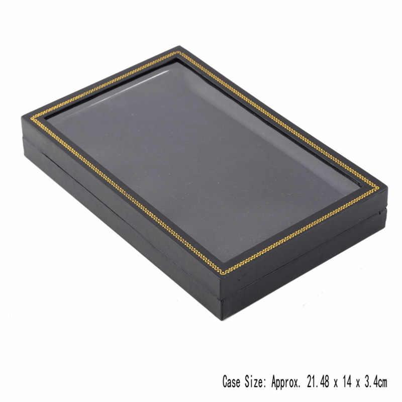 Anillo de 36 bits organizador de pendientes de compromiso, collar de terciopelo, soporte de exhibición de joyería, caja de regalo, caja de almacenamiento de pulsera, caja de joyería