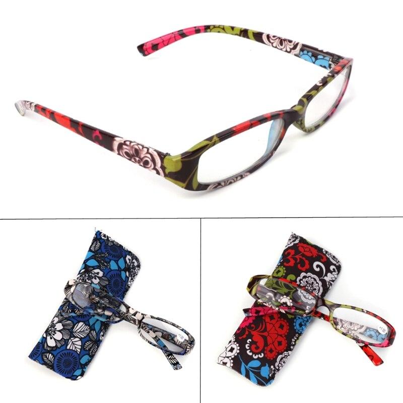 Striped Reading Glasses Presbyopia Resin Lens Eyeglasses With Bag +1.0~+4.0 W215