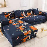 Bande motif Stretch élastique canapé couvre pour salon a besoin de commander ensemble de canapé (2 pièces) si est Chaise Longue coin canapé couverture