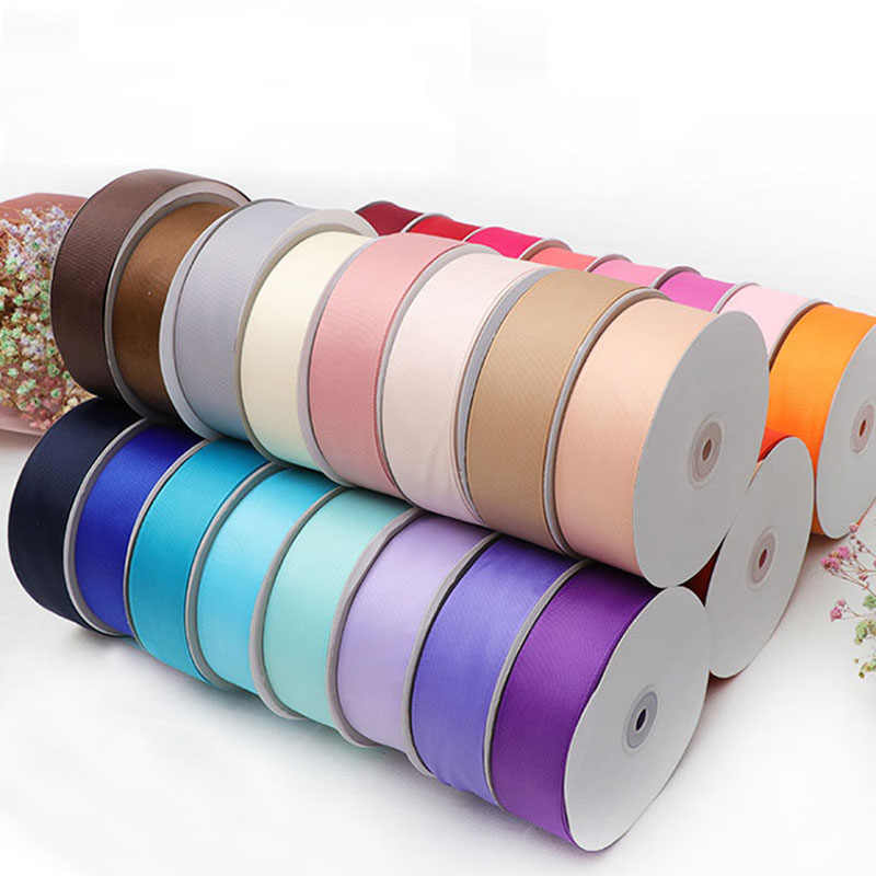 2Meters/Lot 4cm Grosgrain Ribbons DIY Headwear Headband Hair Clips Bow Ties Accessories White Black Red Green Blue Purple Ribbon