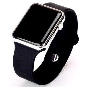 Мужские и женские цифровые часы Hodinky Ceasuri, новый светодиодный спортивный армейский силиконовый браслет