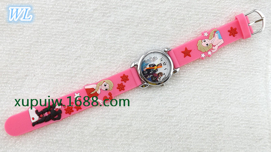 Free Drop Shipping Retail Hot Sales 3D Cartoon Anna Elsa Kids Girls Student Birthday Gifts Watch Quartz Silicone Wristwatch hot hothot sales colorful boys girls students time electronic digital wrist sport watch free shipping at2 dropshipping li