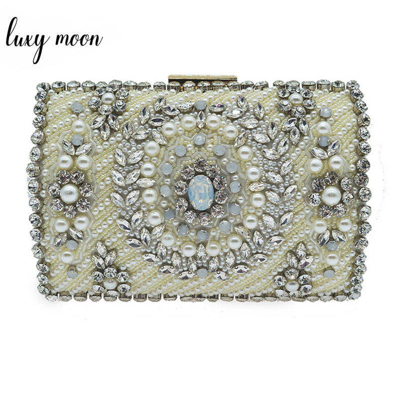 Luxury Beaded Evening Bags For Women High Quality Pearl Evening Clutch Bag Wedding Banquet Purse Rhinestone Handbag Female Bolsa