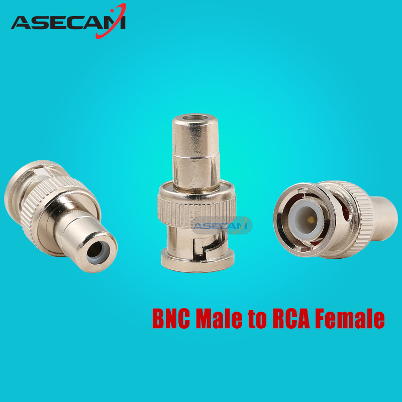 CCTV BNC Male to RCA Female Coax Cable Connector Adapter F/M Coupler for Security Camera accessories 10pcs bnc male to rca female coax cable connector adapter fm coupler for cctv camera