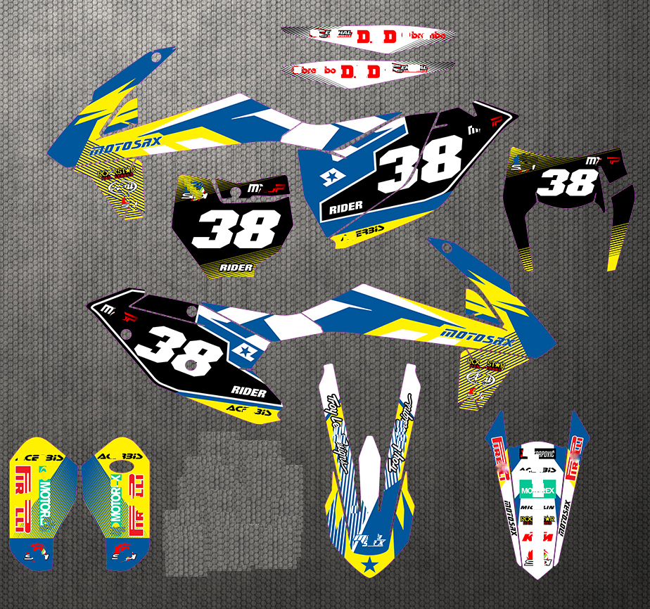 16 18 SX SXF XC XCF 17 19 EXC Graphics Backgrounds Full Stickers Kit Decal For
