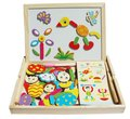 Free shipping hot sale magnetic wonderfully versatile painter fantastic wooden easel puzzle toy children gift