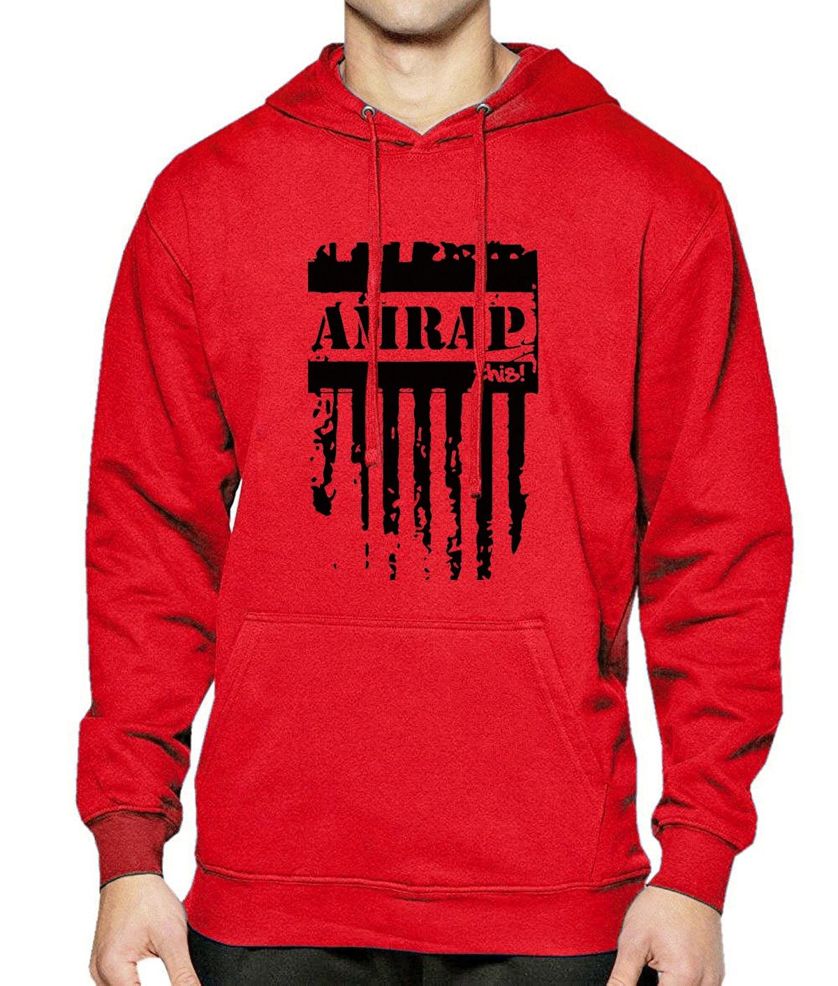 2017 Spring Winter Men Hoodie AMRAP Letter Print Fleece Warm Hoodies Mens Brand Crossfit Hip Hop Men's Sportswear Hoody With Hat