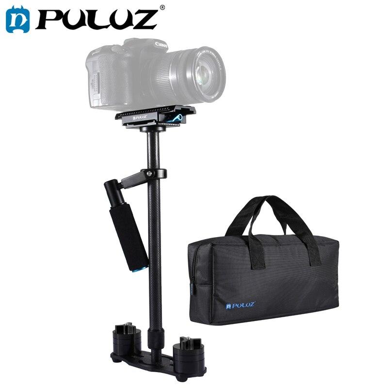 PULUZ 38.5-61 cm Carbone Fibre De Poche Stabilisateur pour DSLR & DV Numérique Vidéo et Caméras, Plage De charge: 0.5-3 kg 3 Couleurs