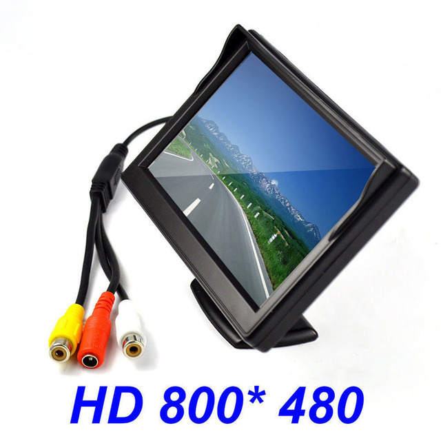 "Hot New 5"" Inch HD 800x480 TFT LCD Screen Auto Car Monitor Display For DVD GPS Reverse Backup Camera Vehicle driving accessories"