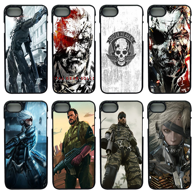Metal Gear Solid V Mobile Phone Cases Hard PC Plastic Cover for iphone 8 7 6 6S PLUS X 5S 5C 5 SE 4 4S iPod Touch 4 5 6 Shell