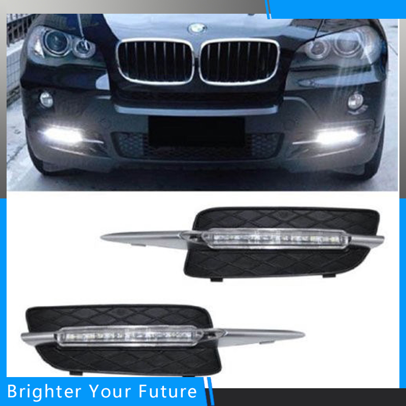 Daylight For BMW X5 E70 2007-2010 White Daytime Running Lights DRL Front Fog Lamp