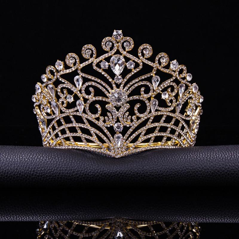 2017 New Big European Bride Wedding Tiara Crowns Silver