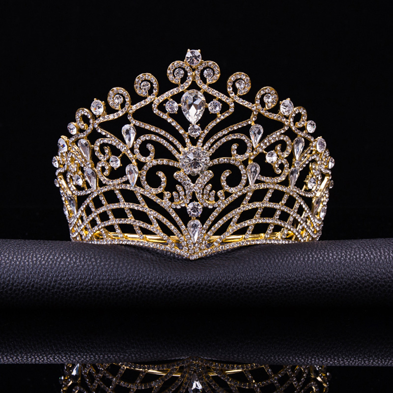 2019 nouvelle grande européenne mariée mariage diadèmes couronnes - Bijoux fantaisie - Photo 5