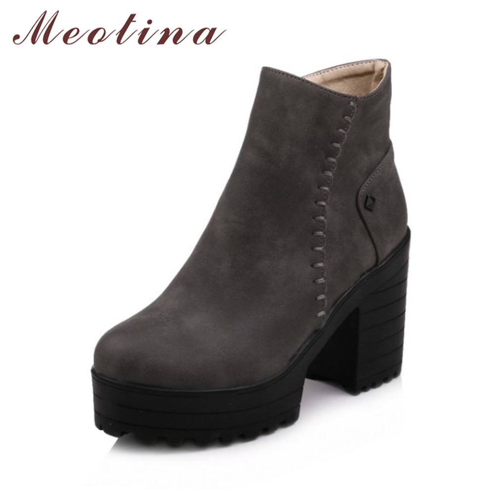 Aliexpress.com : Buy Meotina Women Ankle Boots Platform High Heels ...