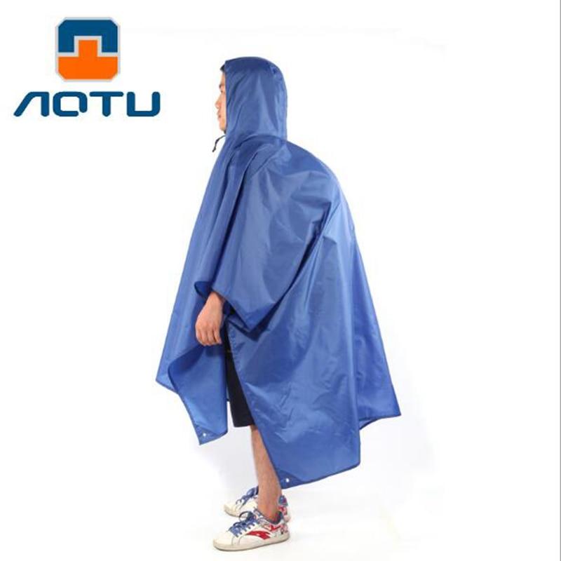 Aotu 3in1 Klettern Angeln Wandern Regenmantel Poncho Regen Tragen Camping Pad Matte Feuchtigkeit Wasserdichte Bodenwanne Sonnenschirm Zelt Markise