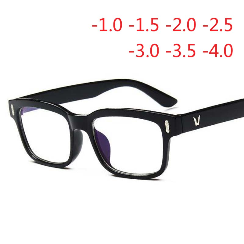 Hot Students Optical Glasses Black Frame Men Women Myopia Spectacle Eyeglasses -1.0 -1.5 -2.0 -2.5 -2.5 -3.0 -3.5 -4.0