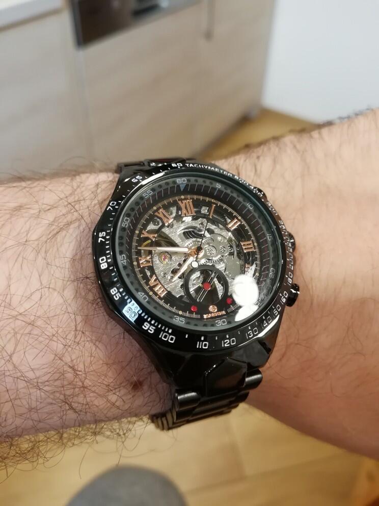 HTB1eI07sKOSBuNjy0Fdq6zDnVXaC Winner Mechanical Sport Design Bezel Golden Watch Mens Watches Top Brand Luxury Montre Homme Clock Men Automatic Skeleton Watch