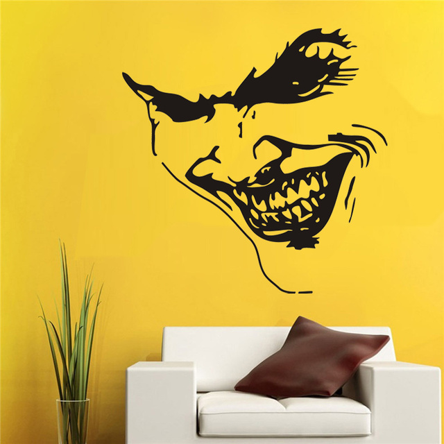 POOMOO * funny smile face wall stickers quotes wall stickers home ...