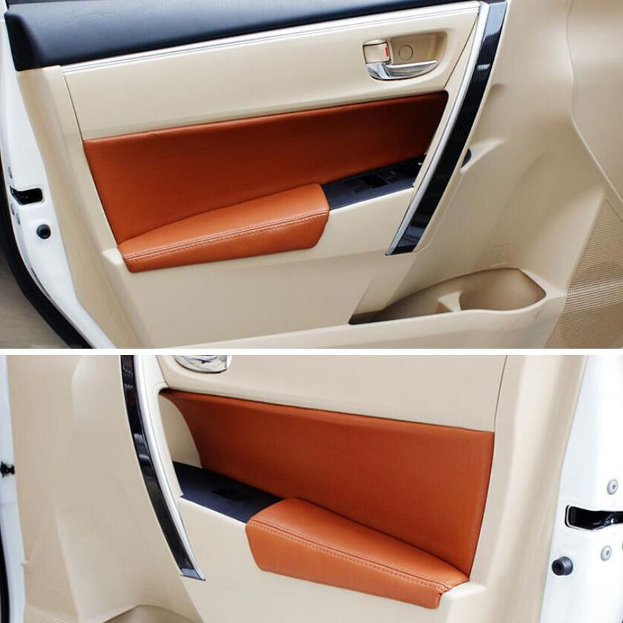 Auto Car Accessories Interior DOOR PANEL ARMREST HANDLE Leather Protector Sticker Fit for Corolla free shipping for vw passat b5 door handle interior handle armrest handle for cherry wood free ship