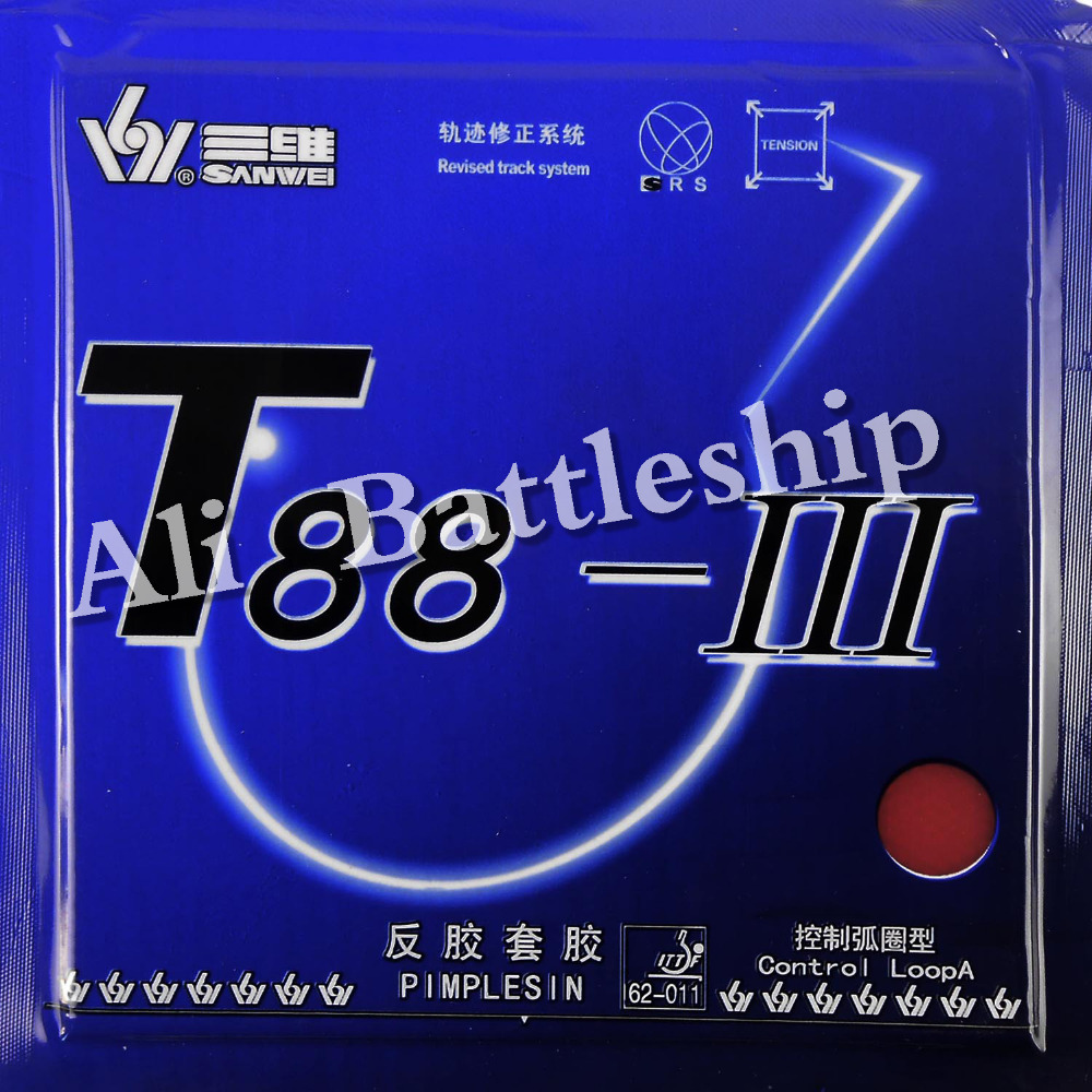 Original Sanwei T88-III (T88-3, T88 3) ping-pong/ping-pong en caoutchouc avec éponge