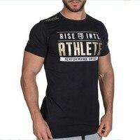 Golds Gym Tops Crossfit Men S T Shirt Printing Bodybuilding Camiseta Masculina RISE Short Sleeved Poleras