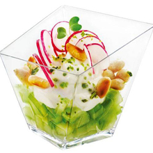 Промотирование-вечерние поставщики, одноразовая пластиковая посуда, 75*72 мм/150 мл прозрачная мини витая десертная чашка, 10/упаковка