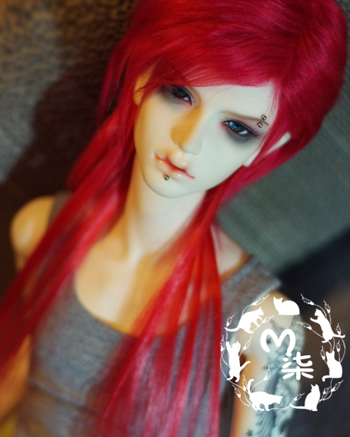Fashion red hair extension fur wig 1/3 1/4 1/6 BJD Wigs long wig for DIY dollfie cnd vinylux цвет 122 lobster roll