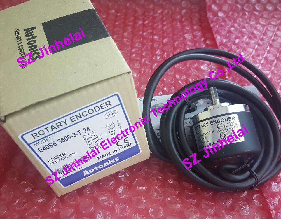 E40S6-3600-3-T-24, E40S6-3600-3-N-24 New and original AUTONICS Incremental rotary encoder 12-24VDC цены