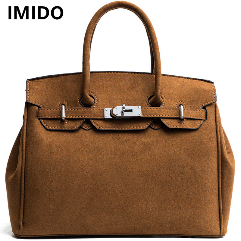 все цены на IMIDO Elegant Fashion Women Bags Vintage Female Crossbody Bag Faux Suede Leather Women Handbags Ladies Shoulder Messenger Bag